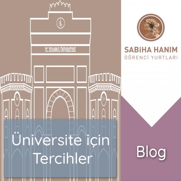 Üniversite için Okul, Bölüm ve Şehir Tercihi